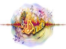 Respingo da música Imagem de Stock Royalty Free