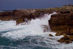 Respingo da onda de oceano Imagem de Stock