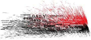 Respingo da pia batismal da notícia Imagens de Stock Royalty Free