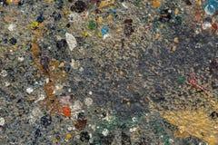 Respingo da pintura de óleo no assoalho Fotos de Stock Royalty Free