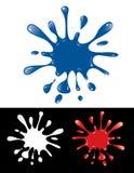 Respingo da tinta azul ilustração royalty free