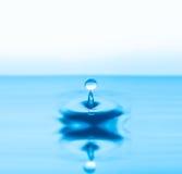 Respingo das gotas da água Fotos de Stock