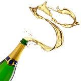 Respingo de Champagne fotografia de stock royalty free