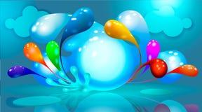 Respingo de várias cores - projeto do fundo para seu texto ilustração stock