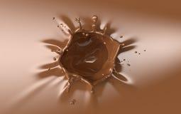 Respingo do chocolate de Brown com uma coroa ilustração royalty free