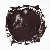Respingo do chocolate de cima do isolado no branco Imagem de Stock
