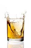 Respingo do gelo do uísque Foto de Stock Royalty Free