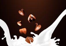 Respingo do leite Fotos de Stock Royalty Free