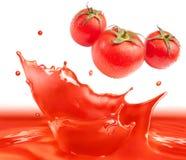 Respingo do molho de tomate Fotos de Stock Royalty Free