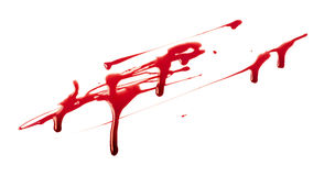 Respingo do sangue imagens de stock