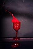 Respingo do sangue do cálice da aranha Foto de Stock Royalty Free