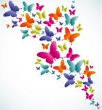 Respingo do verão da borboleta ilustração stock