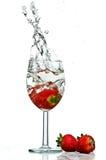 Respingo do vidro de vinho Fotografia de Stock