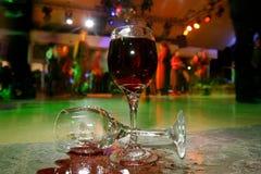 Respingo do vinho Fotos de Stock Royalty Free
