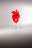 Respingo do vinho de Rosa Imagens de Stock Royalty Free