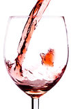 Respingo do vinho vermelho Fotos de Stock