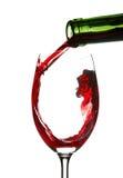 Respingo do vinho vermelho Fotografia de Stock Royalty Free
