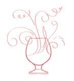 Respingo do vinho vermelho isolado Fotos de Stock Royalty Free