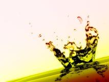 Respingo e gotas da água Fotos de Stock Royalty Free