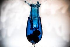 Respingo em um vidro Foto de Stock Royalty Free
