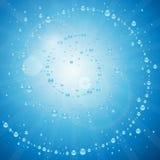 Respingo espiral abstrato da água fresca Imagens de Stock