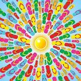 Respingo Multicolor do verão dos falhanços da aleta ilustração royalty free
