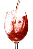 Respingo no vinho Imagem de Stock Royalty Free