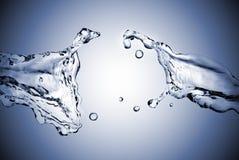Respingo perfeito da água fotos de stock