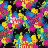 Respingo sem emenda das cores do teste padrão do festival indiano Imagens de Stock