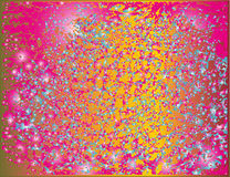 Respingo traseiro da combinação festiva brilhante de pontos coloridos ilustração royalty free