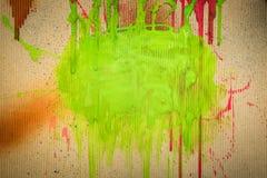 Respingo verde da tinta Foto de Stock Royalty Free