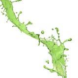 Respingo verde do suco fotografia de stock royalty free