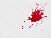 Respingo vermelho da aquarela Fotografia de Stock