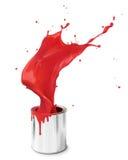 Respingo vermelho da pintura Imagens de Stock