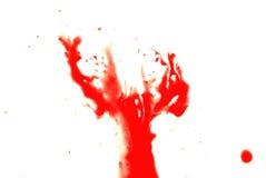 Respingo vermelho do sangue imagens de stock