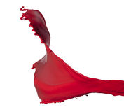 Respingo vermelho isolado da pintura Fotos de Stock