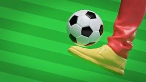 Respinta della sfera di calcio rappresentazione 3d illustrazione vettoriale