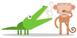 Respiração do crocodilo Fotografia de Stock