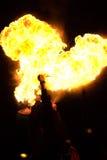 Respiradero humano del fuego Foto de archivo libre de regalías