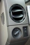 Respiradero y interruptor del aire acondicionado Imagen de archivo