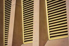 Respiraderos del edificio del metal Imagen de archivo