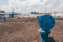 Respiraderos del tanque de agua Fotos de archivo libres de regalías