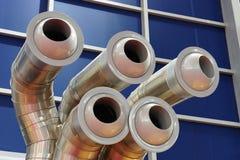 Respiraderos industriales de la CA Fotos de archivo