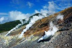 Respiraderos volcánicos en el volcán Fotografía de archivo libre de regalías