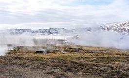 Respiradouros geotérmicas Geysir Islândia Fotografia de Stock
