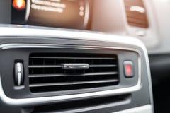 Respiradouros modernos da condição do ar do carro Imagens de Stock