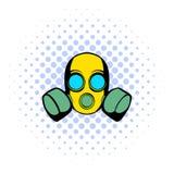 Respirator icon, comics style Stock Photos
