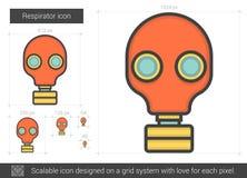 Respirator line icon. Stock Photo