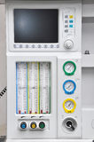Respirator machine. Front of the respiratory equipment And gas gauge Stock Photography
