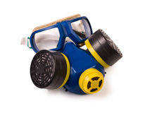 Respirator and Protective Goggles Stock Images